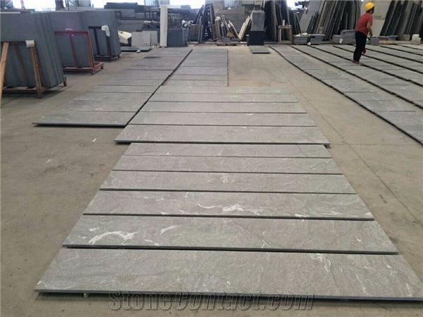 American Virginia Black Jet Mist Granite Tiles Slab