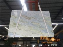 China Polished Talli Blue Moon River Bookmatch Marble Slabs Tile; Crystal Transparency Stone; Own Factory Quarry; Wall Floor Covering