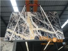 Chinese Black Jungle Forest White Vein Marble Slabs & Tiles; China Colorful Natural Block; Factory Polished; Backround Tv Set Wall Floor Covering
