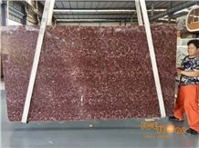 Chinese Red Marble,Rosso Amber Polished Slab&Tile Building Material Floor Wall Covering Project Chinese Rosa Decoration Landscape Chinese Factory,