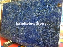 Azul Bahia Granite Slabs, Blue Granite Slabs