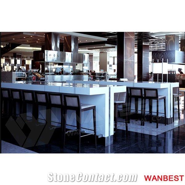 Cheap White Home Restaurant Fast Food Coffee Bar Counter ...