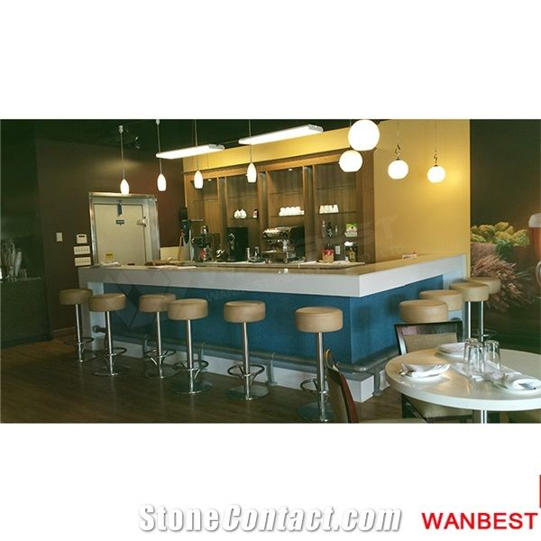 Home Bar Counter: Factory Direct Artificial Marble Stone L Shape Home Wine