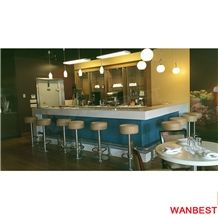 Factory Direct Artificial Marble Stone L Shape Home Wine Mini Pub Restaurant Bar Counter Juice Cafe Beer Cocktail Drinking Table with Chairs