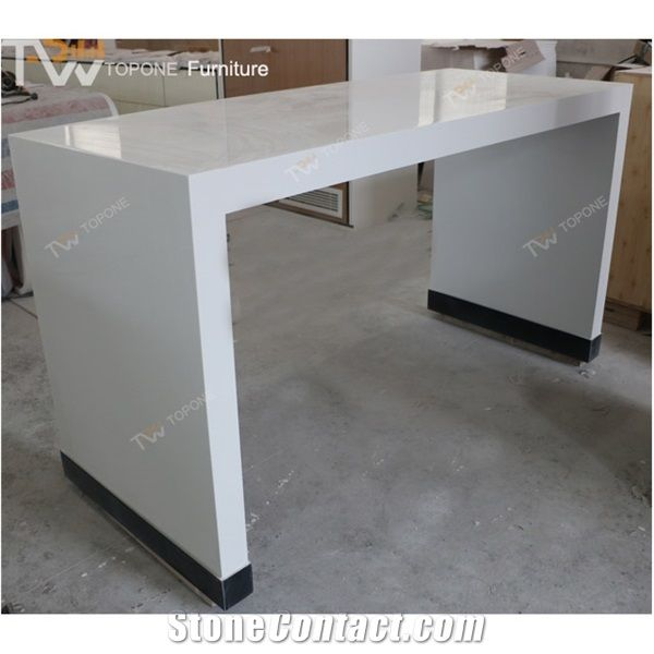 Corian Acrylic Solid Surface High End Long Dinning Table For Kfc - Corian restaurant table tops