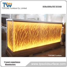 Customized Size Available Corian Marble Night Club Bar Counter Tops Design