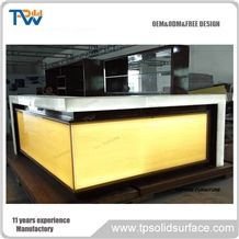 High Quality Illuminated Led Artificial Stone Commercial Bar Counter