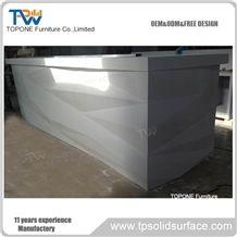 New Diamond Design Bar Counter Tops High Gloss Acrylic Solid Surface Bar for Restaurant Furniture