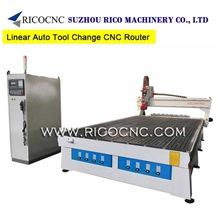 3 Axis Atc Machine,Linear Auto Tool Change, Atc Cnc Router with Italy Hsd 9.0kw Spindle Atc2040ad