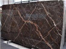 Ombra Di Caravaggio Marble, Sarrancolin Versailles, Brown Marble Slabs