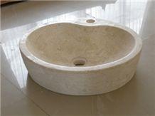 Round Wash Basin Pedestal Round Basin