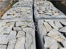W2 Small White Gneiss Flagstone Wall Tiles