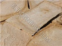 Y1 Big Yellow Gold Gneiss Natural Stone Landscaping Stones, Flagstone €5,5/Square Meters