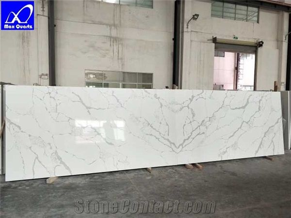 Calacatta White Quartz Stone Slab Lphc 002 2cm And 3cm