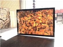 Amber Onyx(Orange) Slabs & Tiles, Fantasy Onyx Slabs & Tiles