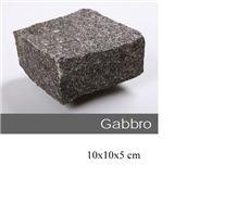 Gabro Black Cube Stone 10x10x5 cm