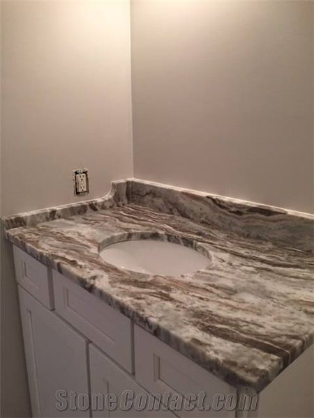 Fantasy Brown Marble Bathroom Top From United States Stonecontactcom