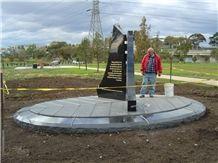 Victorian Bluestone & Black Granite Memorial