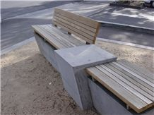 Victorian Bluestone Street Seat Benches