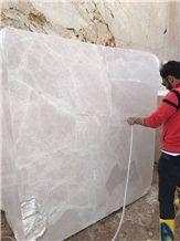 Vanilla Spider Marble Block, Turkey Beige Marble