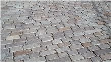 Binders/Paving Blocks, Porfido Sarentino Grigio Cobble Stones