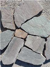 Porfido Irregular Flagstone Slabs, Pavers, Wall Covering