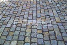 Porfido Trentino Cubes, Driveway Paving Stone