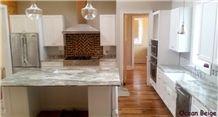 Ocean Beige Quartzite Kitchen Countertop