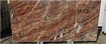 Marmo Rosso Oliva, Olive Red Marble Slabs