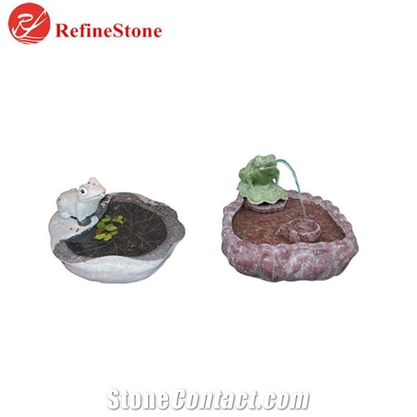 Small Natural Stone Water Fountain For Indoor Outdoor Cultural