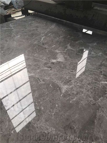 Athena Gray Marble Marble Polished Slab High Glossy Grey