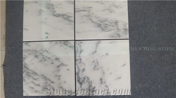 Blue Sky White Landscaping Marble Machine Cutting Tiles