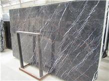 Port Saint Laurent Marble Polished Slabs,Golden Portoro Black Tulip Marble Tiles for Hotel Lobby Floor Covering,French Pattern