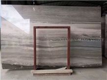 Silver Serpeggiante Blue Limestone Polished Slabs Tile,Ocean Straight Wooden Vein Cutting Panel Interior Wall Cladding,Lobby Floor Covering Pattern