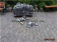 Tumbled Grey Limestone Pavers,Cobble Stone,Cubes Stone,Honed Bluestone Flooring Brick,Antique Wall Cladding Brick,Flamed Driveway Paving Stone,Patio