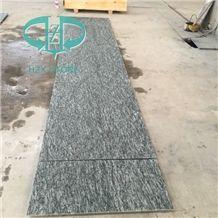 Flamed G612 Oliver Green Natural Granite Natural Split Wall Tiles/Mushroom China Green Granite Tiles/Zhangpu Dark Green Granite Flooring Tiles