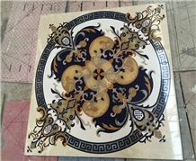 High Quality Factory Whosale Waterjet Marble Mosaic Pattern Floor Medallion