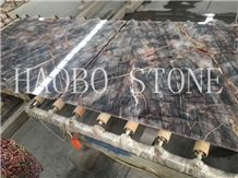 Haobo Customized Cut to Size China Quarry Natural Stone Factory Good Price&Service Exotic Red Jade Marble Slab Polished for Luxury Interior Decoration