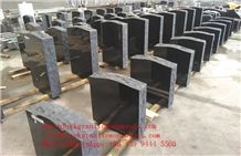 China Shanxi Black Granite Single Upright Die Monuments P2 Rustic Us&Canidian Style Memorials