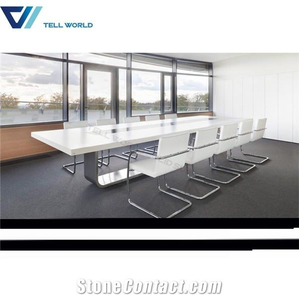 Seater Corian Conference Table Marble Office Conference Table - Corian conference table
