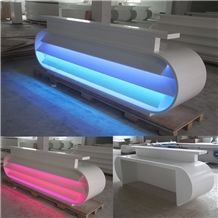 Modern High Glossy Guangdong Furniture Reception Counters