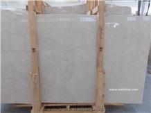 Botticino Ivory Marble Slab, Burdur Light Beige Marble