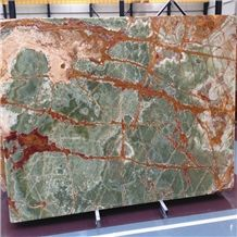 Multicolor Green Onyx Afghanistan Green Onyx Slabs