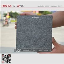 G684 Fuding Black Pearl Basalt China Natural Cheap Beauty Flamed Stone Slabs Floor Wall Thin Tiles