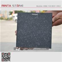 G684 Fuding Black Pearl Basalt China Natural Cheap Beauty Honed Stone Slabs Floor Wall Thin Tiles