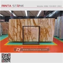 Golden Siena Yellow Gold Marble Slabs Tiles for Hotel Floor Covering Wall Cladding Tv Backgroud