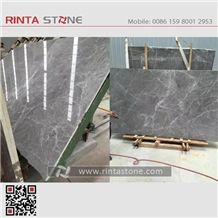 Hermes Grey Marble, Gray Luna Emperador Fume Ash Buff Tiles, Big Gangsaw Slabs Wall Floor Covering, Light Countertops Stone Project Elegant