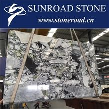 Ice Connect Marble Slabs, Wall Covering Tiles, Cold Jade Pattern, Emerald Natural Stone