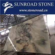 Landscape White Marble Slabs & Tiles, Chinese Landscape Painting Marble,Landscape White Marble Tile & Slab ,Landscape Painting Marble