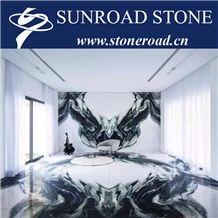 Panda White / Ink Marke White Marble Slabs & Background Wall Tile & Floor Tile